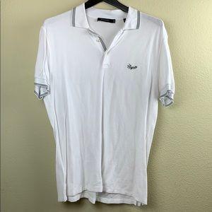 Men Ermenegildo Zegna White Polo Shirt Medium